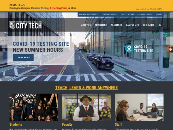 Screenshot of www.citytech.cuny.edu