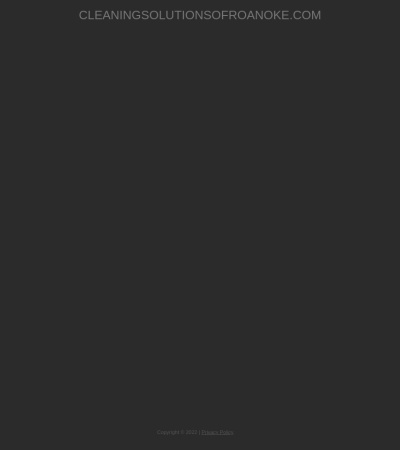 Screenshot of www.cleaningsolutionsofroanoke.com