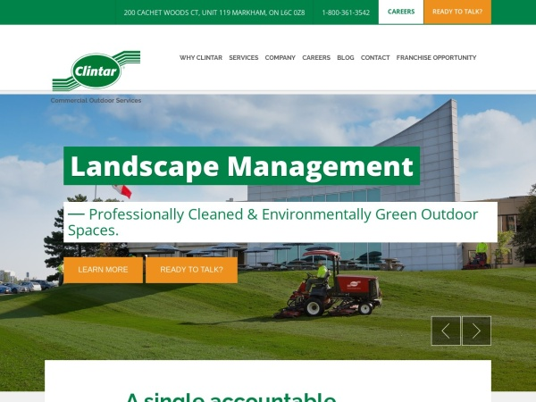 Screenshot of www.clintar.com