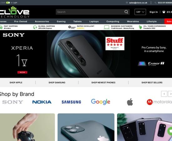 Screenshot of www.clove.co.uk