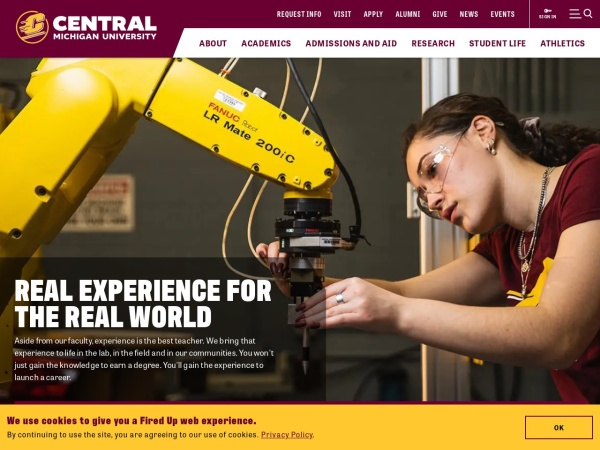 Screenshot of www.cmich.edu