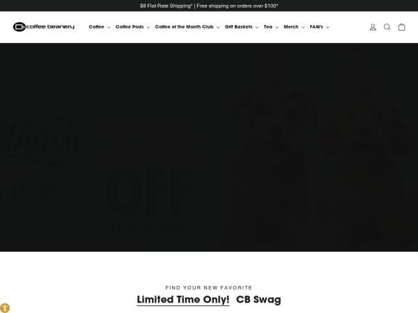 Screenshot of www.coffeebeanery.com