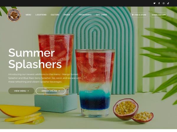 Screenshot of www.coffeeculturecafe.com