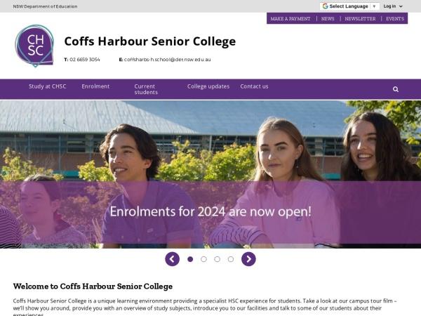 Screenshot of www.coffsharbs-h.schools.nsw.edu.au