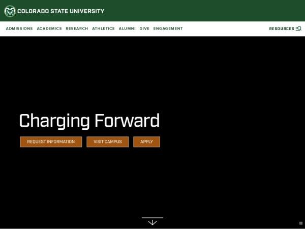 Screenshot of www.colostate.edu