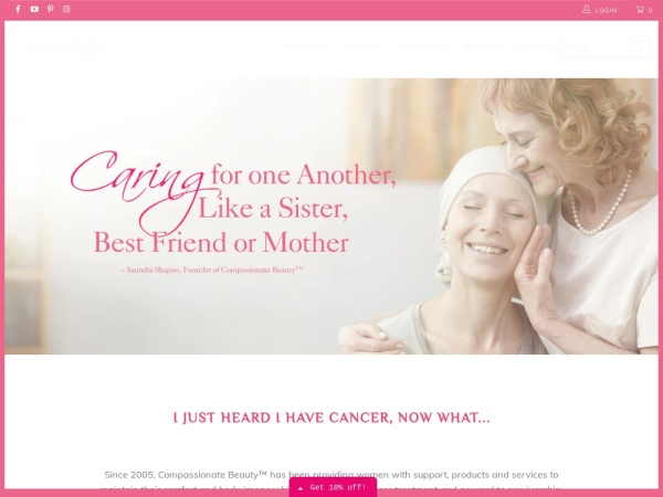 Screenshot of www.compassionatebeauty.com