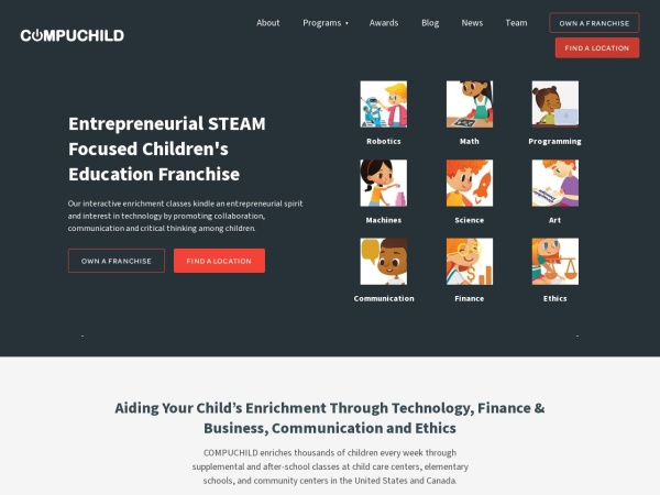 Screenshot of www.compuchild.com