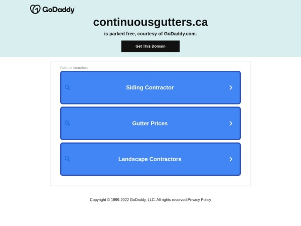 Screenshot of www.continuousgutters.ca