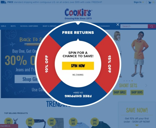 Screenshot of www.cookieskids.com