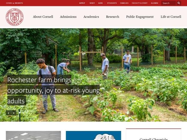 Screenshot of www.cornell.edu