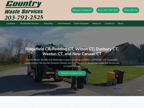 Screenshot of www.countrywasteservice.com