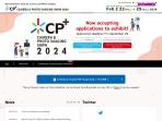 Screenshot of www.cpplus.jp