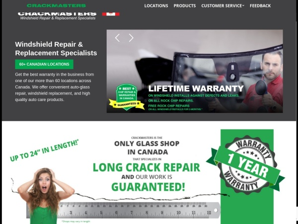 Screenshot of www.crackmasterscanada.com