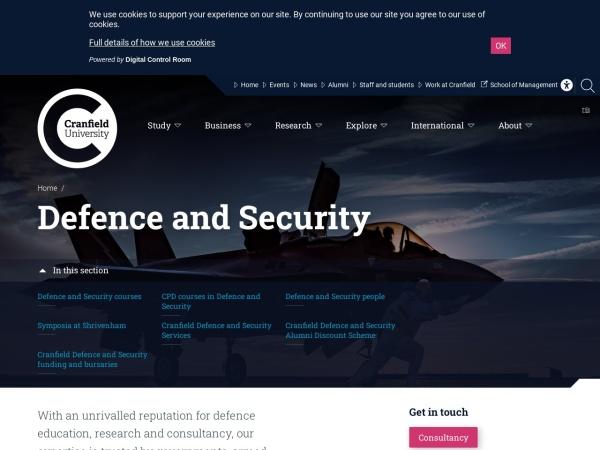 Screenshot of www.cranfield.ac.uk
