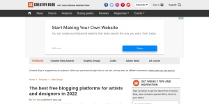 The 14 best free blogging platforms | Creative Bloq
