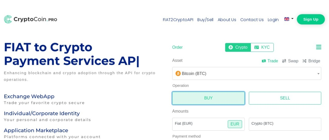 Screenshot of www.cryptocoin.pro