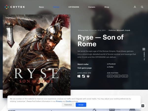 http://www.crytek.com/games/ryse/overview