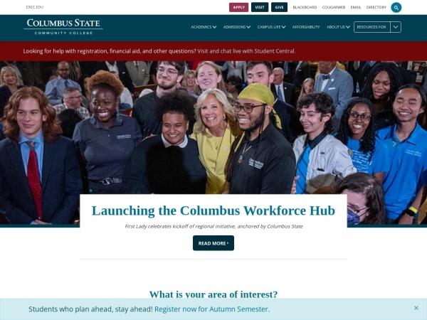 Screenshot of www.cscc.edu
