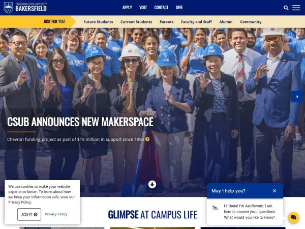 Screenshot of www.csub.edu