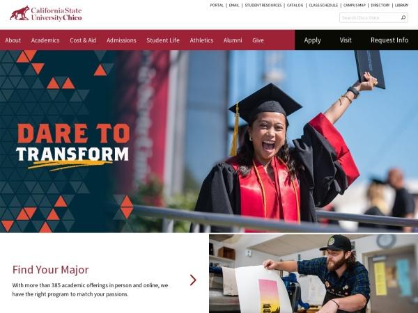 Screenshot of www.csuchico.edu