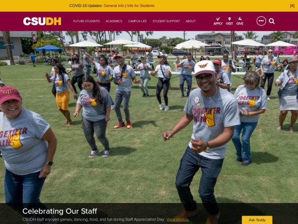 Screenshot of www.csudh.edu