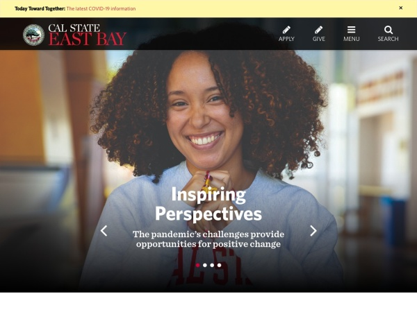 Screenshot of www.csueastbay.edu