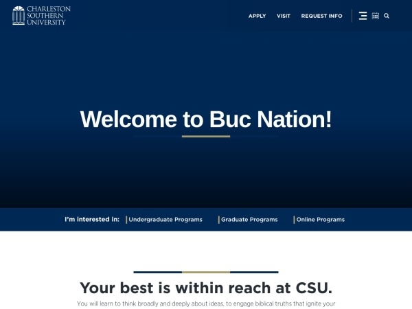 Screenshot of www.csuniv.edu