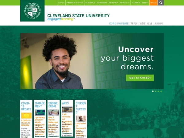 Screenshot of www.csuohio.edu