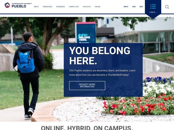 Screenshot of www.csupueblo.edu