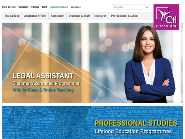 Screenshot of www.ctleuro.ac.cy