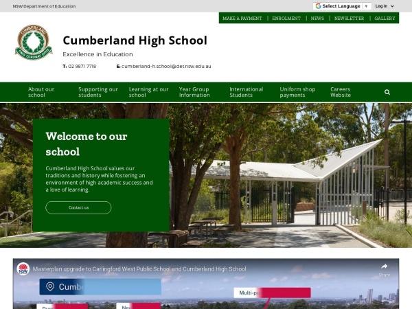 Screenshot of www.cumberland-h.schools.nsw.edu.au