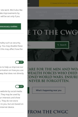 Screenshot of www.cwgc.org