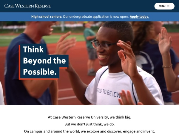 Screenshot of www.cwru.edu