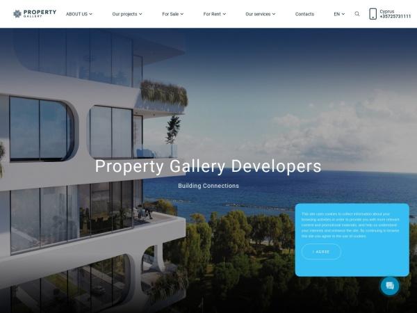 Screenshot of www.cypruspropertygallery.com