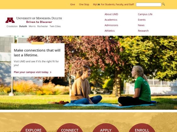 Screenshot of www.d.umn.edu
