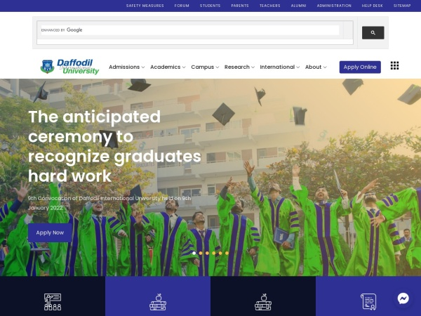 Screenshot of www.daffodilvarsity.edu.bd