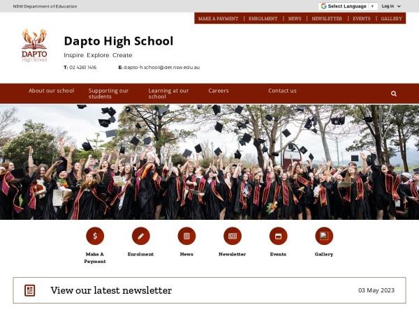 Screenshot of www.dapto-h.schools.nsw.edu.au