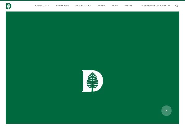 Screenshot of www.dartmouth.edu