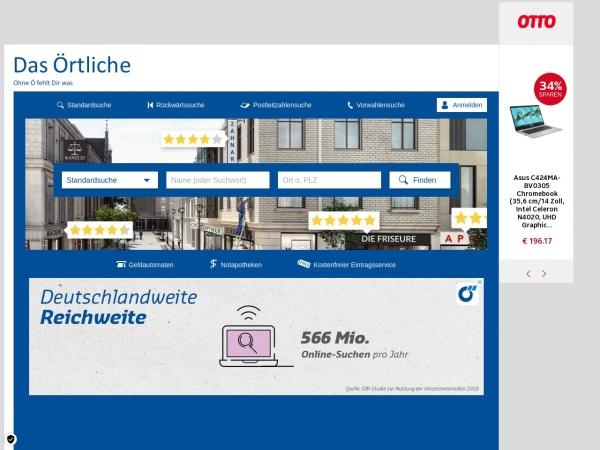 Suchmaschine DasÖrtliche.de