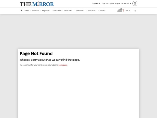 Screenshot of www.dawsoncreekmirror.ca