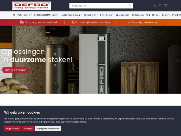 Screenshot of www.defro.nl