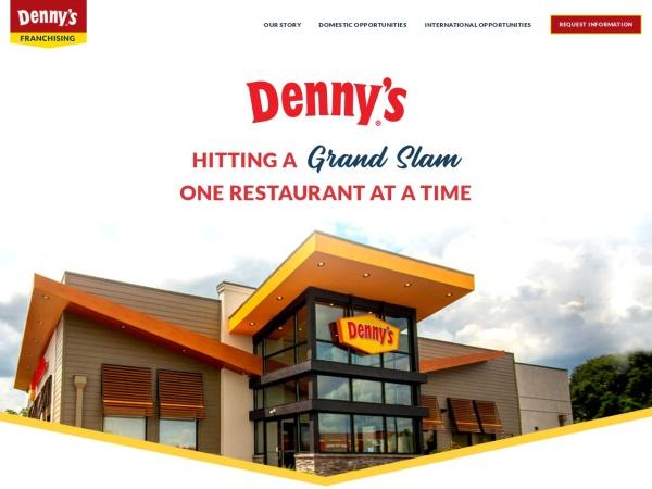 Screenshot of www.dennysfranchising.com