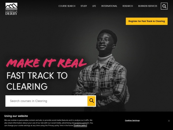 Screenshot of www.derby.ac.uk