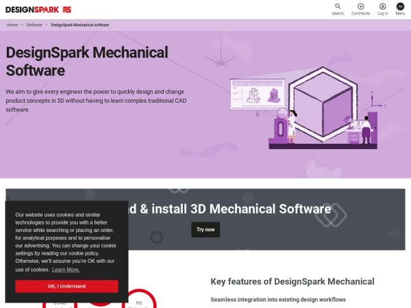 Screenshot of www.designspark.com