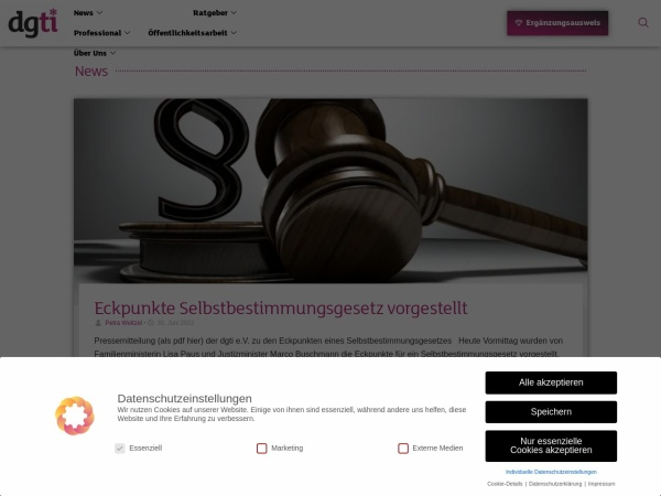 Screenshot of www.dgti.org