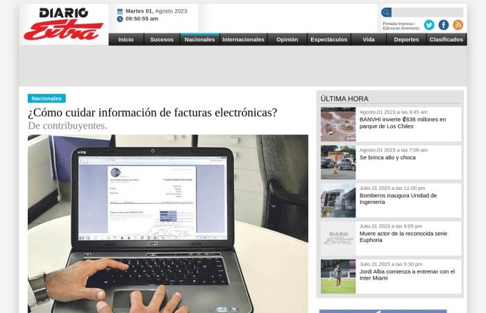 Screenshot of www.diarioextra.com