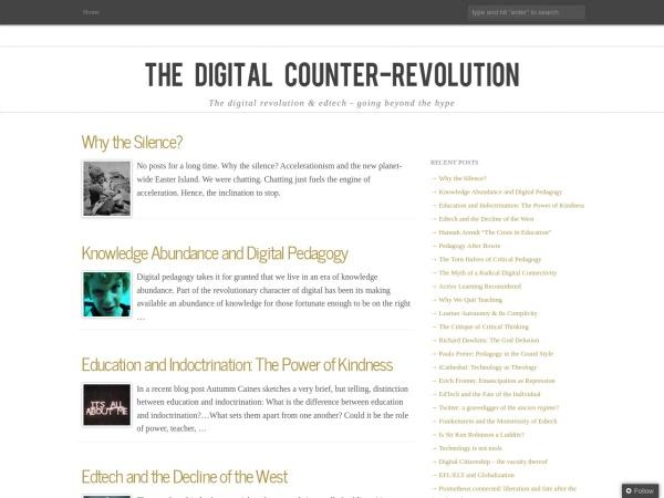 Screenshot of www.digitalcounterrevolution.co.uk