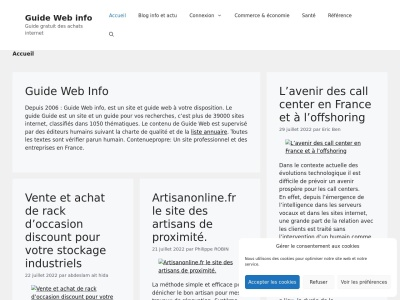 Guide web  actualit�