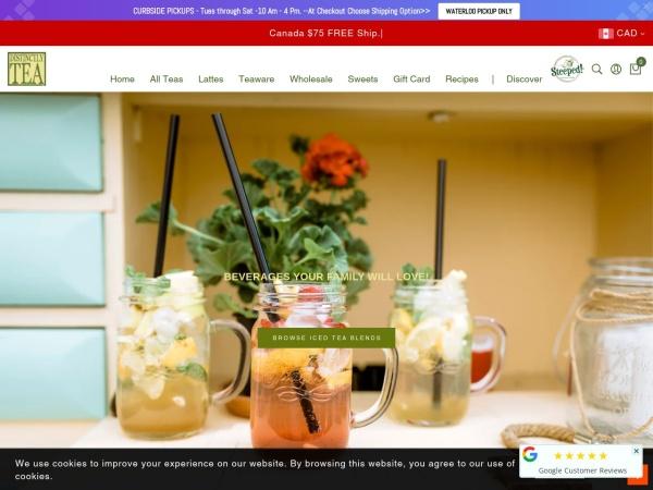 Screenshot of www.distinctlytea.com