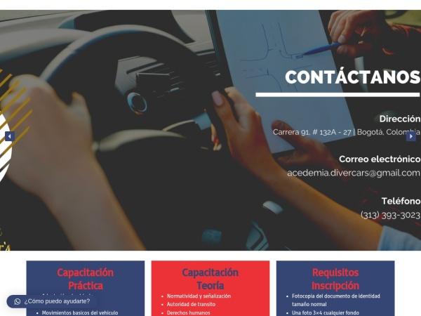 Captura de pantalla de www.divercars.com